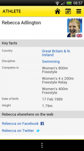 BBC Olympics - Athlete profiles