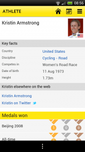 BBC Olympics - Athlete profile