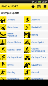 BBC Olympics - Find a sport