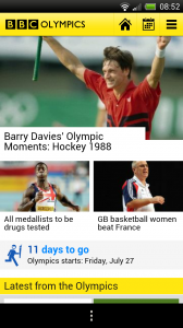 BBC Olympics - Front page