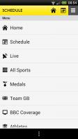 BBC Olympics - Menu
