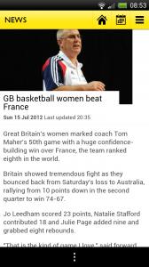 BBC Olympics - Story page