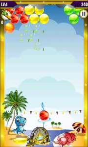 Dino Bubble Shooter 2 - Bubbles pop in cute detail