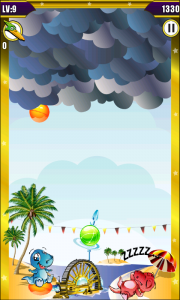 Dino Bubble Shooter 2 - If bubbles reach the floor it's game over