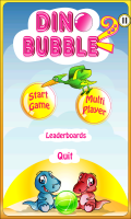 Dino Bubble Shooter 2 - Menu