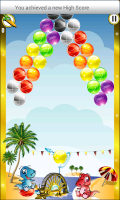 Dino Bubble Shooter 2 - Tyical level view