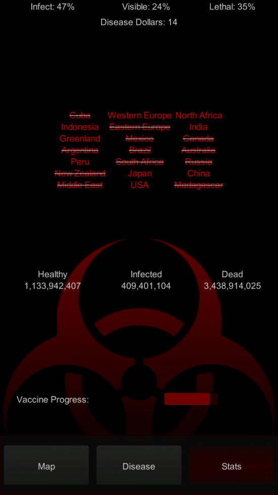 Epidemic – strategy game for Android, grow your deadly virus & crush humanity [insert evil laughter!]