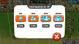 Goal Defense Purchase Diamonds