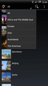 GuidePal - Navigation menu