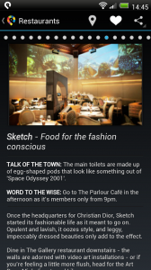 GuidePal - Restaurant detail