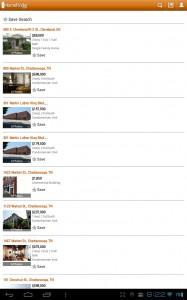 Homefinder List View