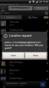 IM Map Navigator - Contact location request