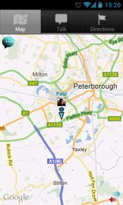 IM Map Navigator - Friend location on map