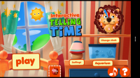 Interactive Telling Time HD - Main menu