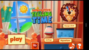Interactive Telling Time HD - Main menu