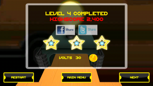 Jumping Electron HD - Level completed