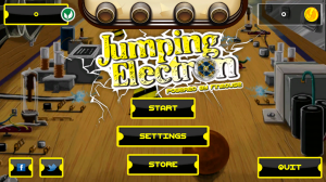 Jumping Electron HD - Menu