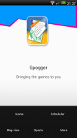 London 2012 Spogger - Front page, press menu to bring up menu