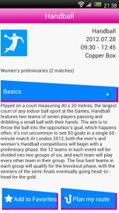 London 2012 Spogger - Sport info