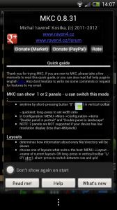 MKCommander - Quick guide