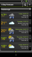 Met Office - 5 day forecast