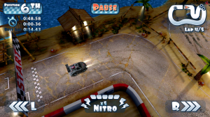 Mini Motor Racing - Headlights in night mode