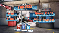 Mini Motor Racing - Menu page