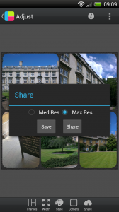 PicFrame - Share options