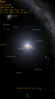 Pocket Planets - Zoomed out view of Sun and orbitting planets