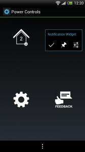 Power Controls - App dashboard
