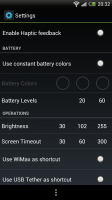 Power Controls - App settings