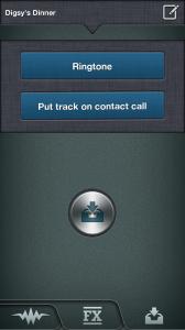 Ringtonium - Save ringtone or apply to contact call