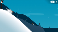 Ski Safari - If you crash, tap repeatedly to get up