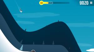 Ski Safari - Ride the Yeti and perform flips