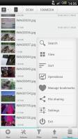 Solid Explorer - Main file menu