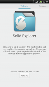 Solid Explorer - Welcome and tutorial