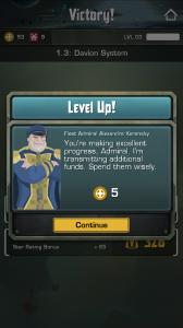 Starfleet Omega - Level up