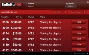 SudokuPDQ Waiting for Players