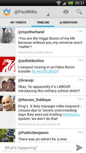 Tweet Lanes - Main timeline