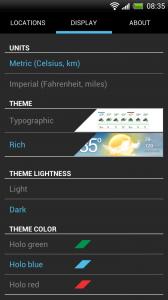 Weather Flow - Display settings 1