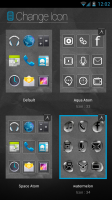 Atom Launcher - Interchangeable icon sets