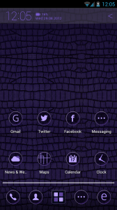 Atom Launcher - Royalpurple theme