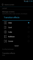 Atom Launcher - Transition effects