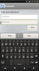 BioWallet - Create additional password