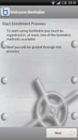 BioWallet - Enrollment process
