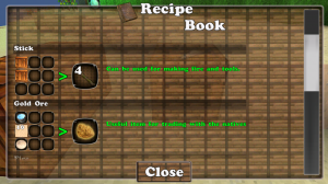 Block Story - Using the recipe book