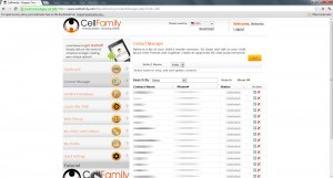 CellFamily Contact Manager
