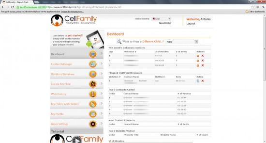 CellFamily Dashboard