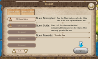 Dragon Kingdom - Quest screen
