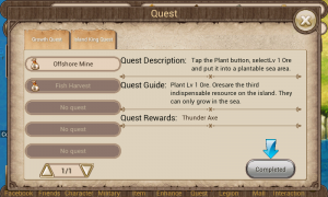 Dragon Kingdom - Quest screen